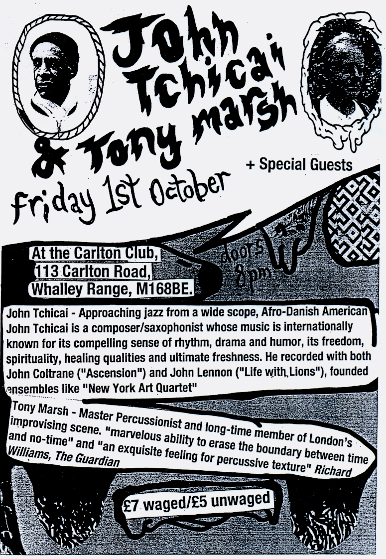 John Tchicai Tony Marsh Manchester 1st october 2010